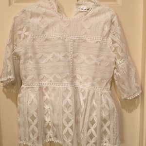 Chicwish white lace top